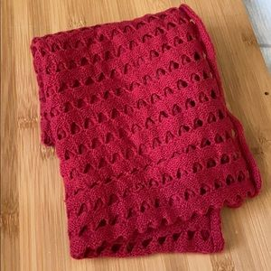 Red Cutout Scarf